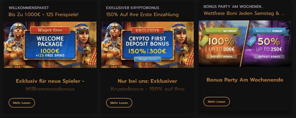 HorusCasino - Bonuscode für das beste deutsche Casino